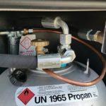 Alugas-Tankflasche, Truma Duo Control CS und Einfüllstutzen
