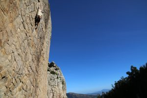 Klettern im Sektor Mosaico