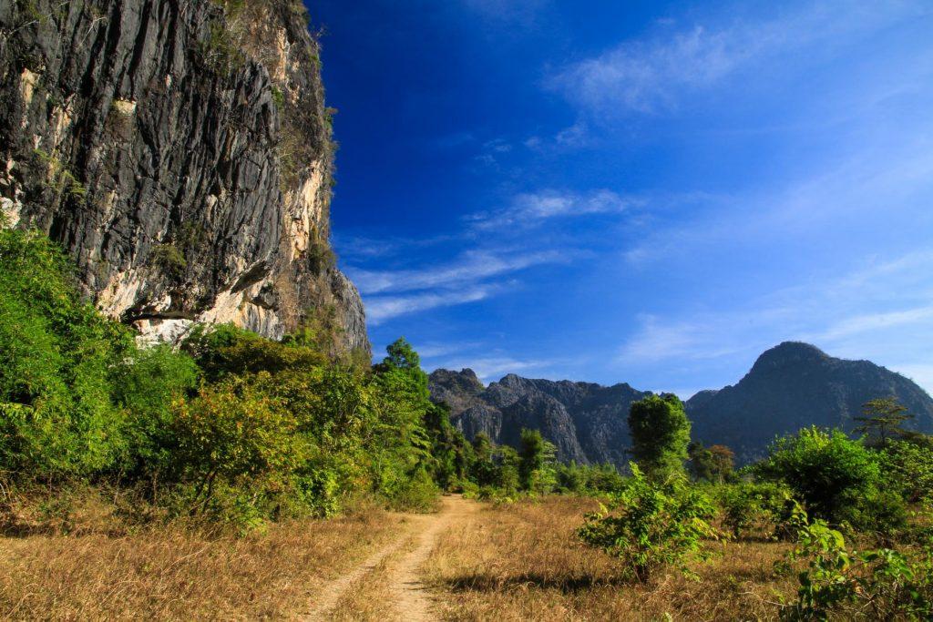 Kletterfelsen in Laos