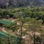 Das Green Climbers Home von oben