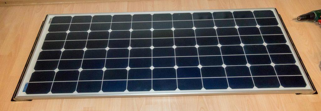 Der Anfang der Solaranlage