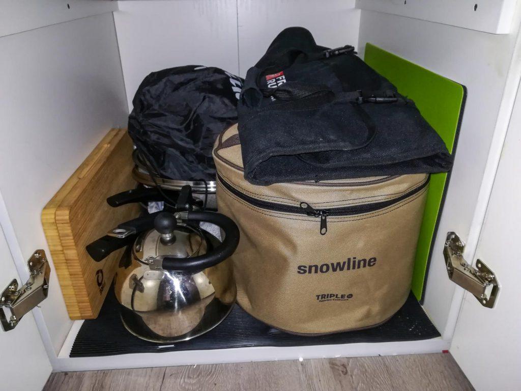Snowline XL Topfset im Schrank