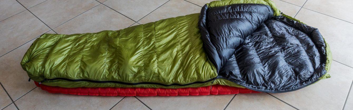 Ein Schlafsack zum Wandern