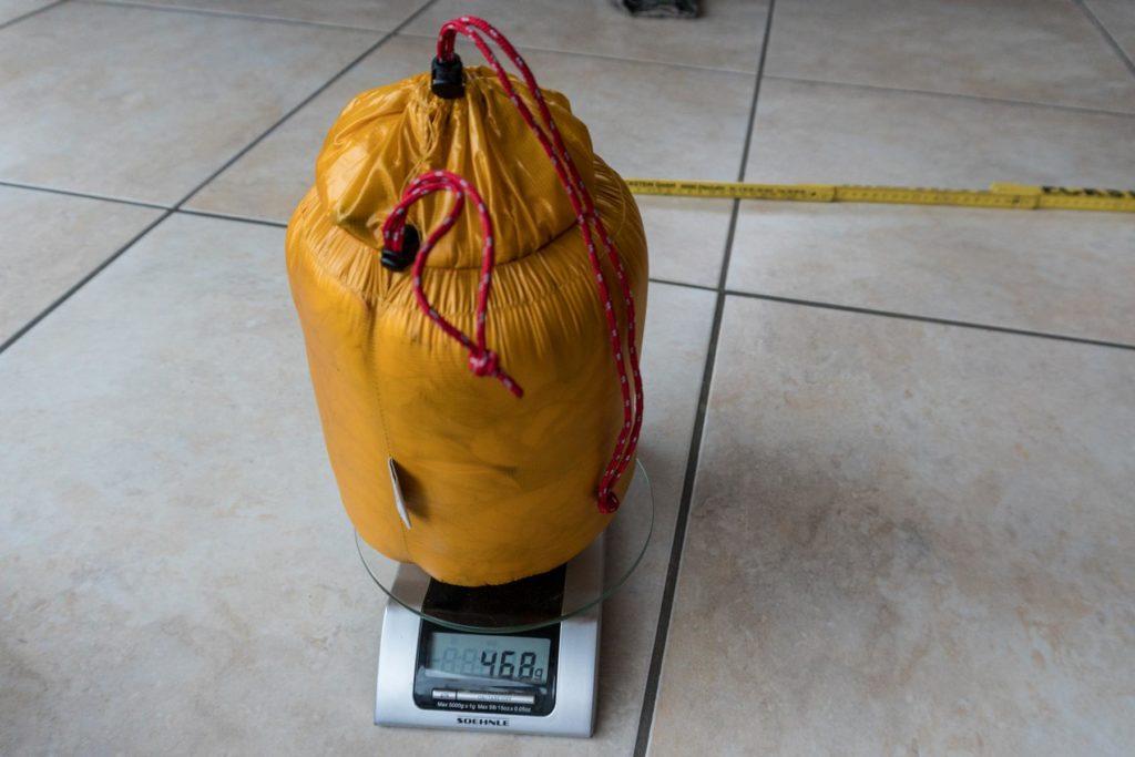 Daunenschlafsack mit geringem Gewicht