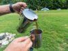 Kaffee auf dem Campingplatz